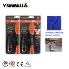 Buy Visbella 2pcs/L 12g big package with 8g refill bottle Liquid Plastic Welding Glue 5 Second Fix UV Light Glue quickly seal repair directly from merchant!