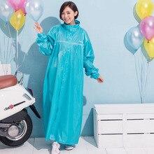 Длинные ПВХ для женщин плащ для Открытый прозрачный синий кемпинг непромокаемый плащ костюм утолщенной водонепроница