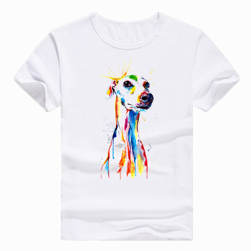Asian Size Print Greyhound Dog Animal Pet Funny T-shirt Short sleeve O-Neck Tshirt For Men Women Streetwear HCP4168