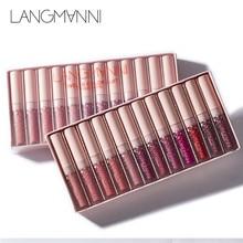 Langmanni Matte Lipstick Set Waterproof Long-lasting Velvet Lipstick Set Red Tint Nude Batom