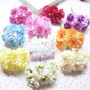 60 шт Материал de bricolage gros petite prune букеты de fleurs de tournesol simulation en tissu avec des fleurs decoration