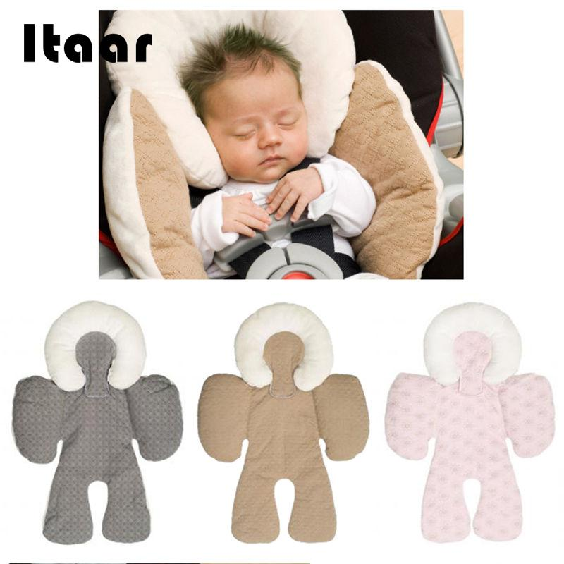 New Safe Soft Two-sided Baby Head Body Support Infant Pram Car Seat Cushion
