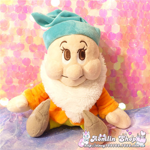 Image 2 - Seven Dwarfs Plush Dolls 25cm 10 Happy Sleepy Sneezy Dopey Grumpy Bashful Girls Toys Gifts