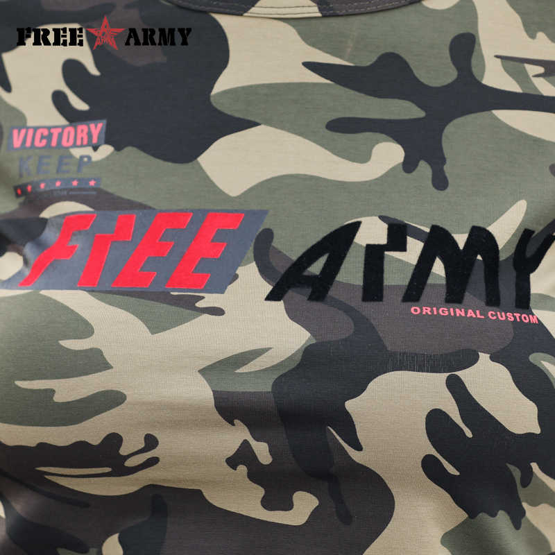 Bezpłatne armia marka bawełny kamuflaż T koszula kobiety lato moda wojskowy Tees kobieta z krótkim rękawem damska wysokiej jakości koszulka