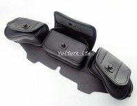 Windshield Bag Saddle 3 Pouch Pocket Fairing For Harley Electra Street Tri Glide