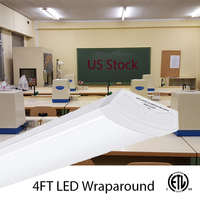 40W LED Tube Wraparound Shop Light Ceiling Lighting Fixture Fluorescent Tube Replacement Linkable Garage Lights LED Linear Puff