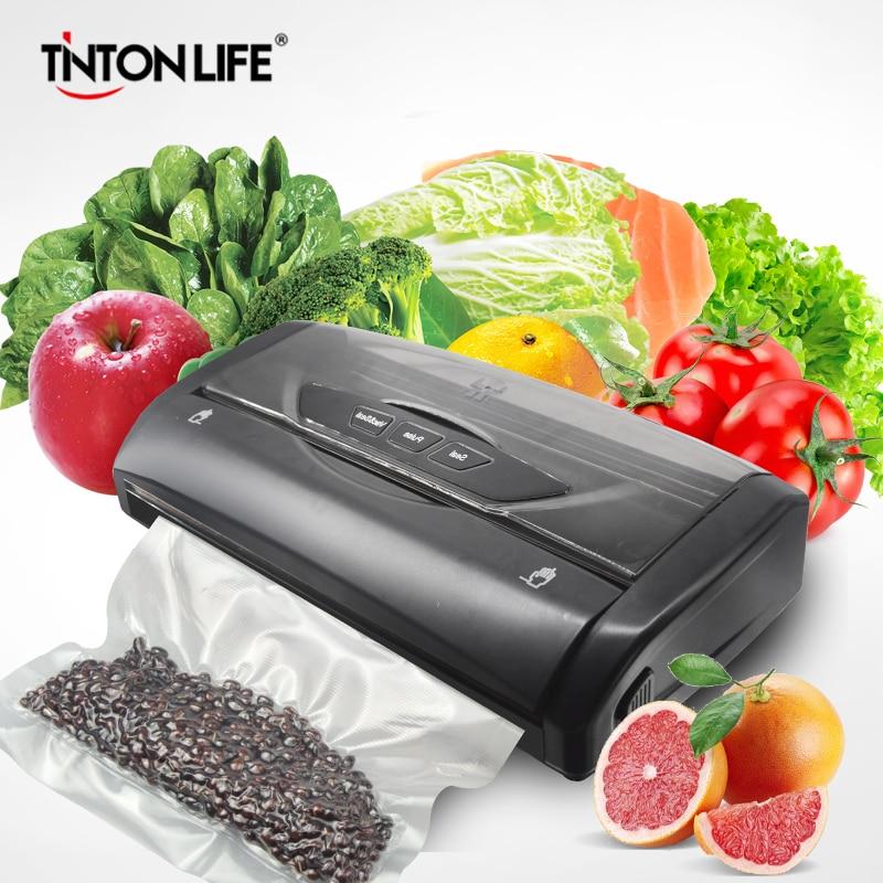 Machine de scellage sous vide alimentaire pour économiseur de nourriture avec 1 rouleau 3m x 28mm sac maison électrique scelleur sous vide Machine d'emballage