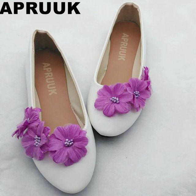 Ballet flats purple flower wedding flats shoes womens flower brides ballet flats purple flower wedding flats shoes womens flower brides bridal dress flats shoes plus size junglespirit Image collections