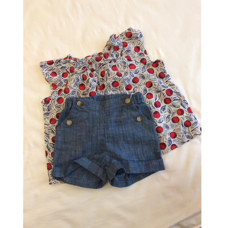 girls denim   shorts   summer toddler baby girls   shorts   solid blue colour kids   shorts   boutique baby clothes