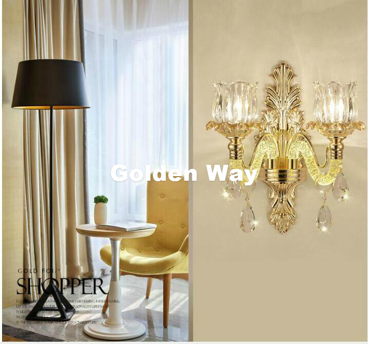 цена на Free Shipping Crystal Wall Lamp Decora Modern Wall Sconce Interior Wall Lights Decorative E14 Wall Sconces For Bedroom Lighting