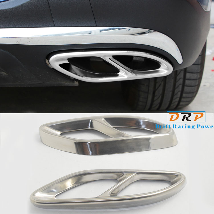 for Mercedes Benz W212 E Class 2014-2017 GLE W166 C292 GLS 400 CLA Class 2016-2017 Car-Styling AMG Rear Exhaust Pipe Cover Trim