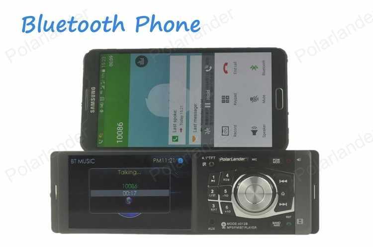 カーステレオラジオ MP3 MP4 プレーヤー 4.1 ''HD TFT 12 V オーディオビデオインアウト FM/USB /SD/フォルダ再生/AUX サポートの Bluetooth