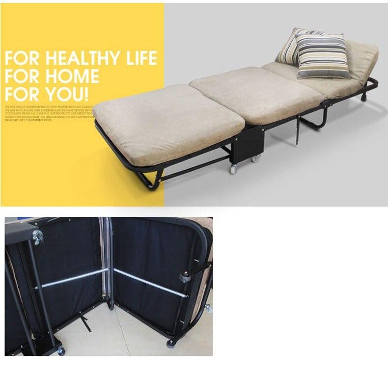 Ланч-брейк, складная односпальная кровать для офиса, трехслойная губчатая складная кровать для отдыха, Простая кровать для ухода