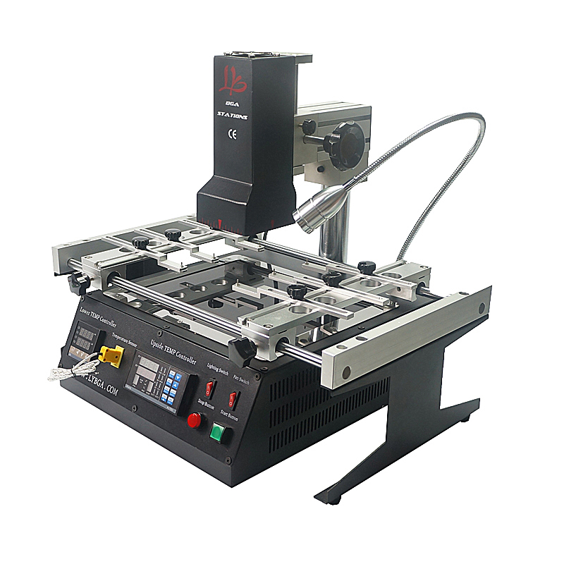 LY IR6500 V.2 Infrared BGA rework station soldering machine with reballing stencils brush Tweezers pen
