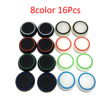 16 PCS Non-slip Silicone Analog Joystick Thumbstick Thumb Stick Grip Caps Cases for PS3 PS4 Xbox 360 Xbox One Controller(China)
