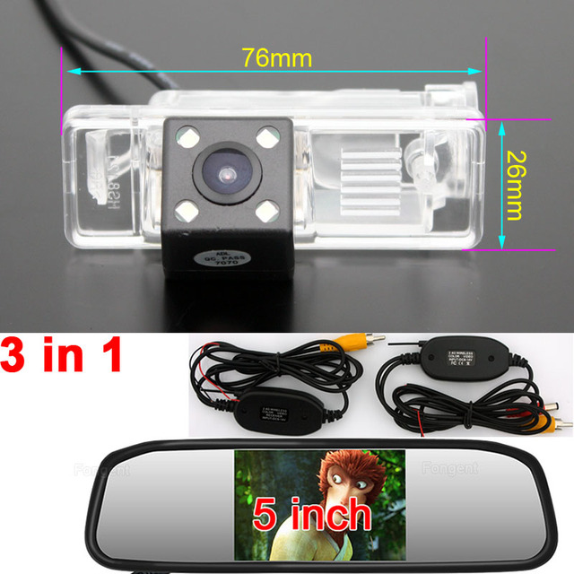 Vehicle Rear View Parking Reverse Backup Off Wireless Monitors Car Wide Vision Camera For Mercedes Benz Vito Viano Sprinter W639