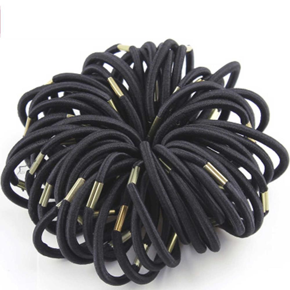 50PCS/Lot New High Quality Women Colorful Elastic Hair Rubber Band