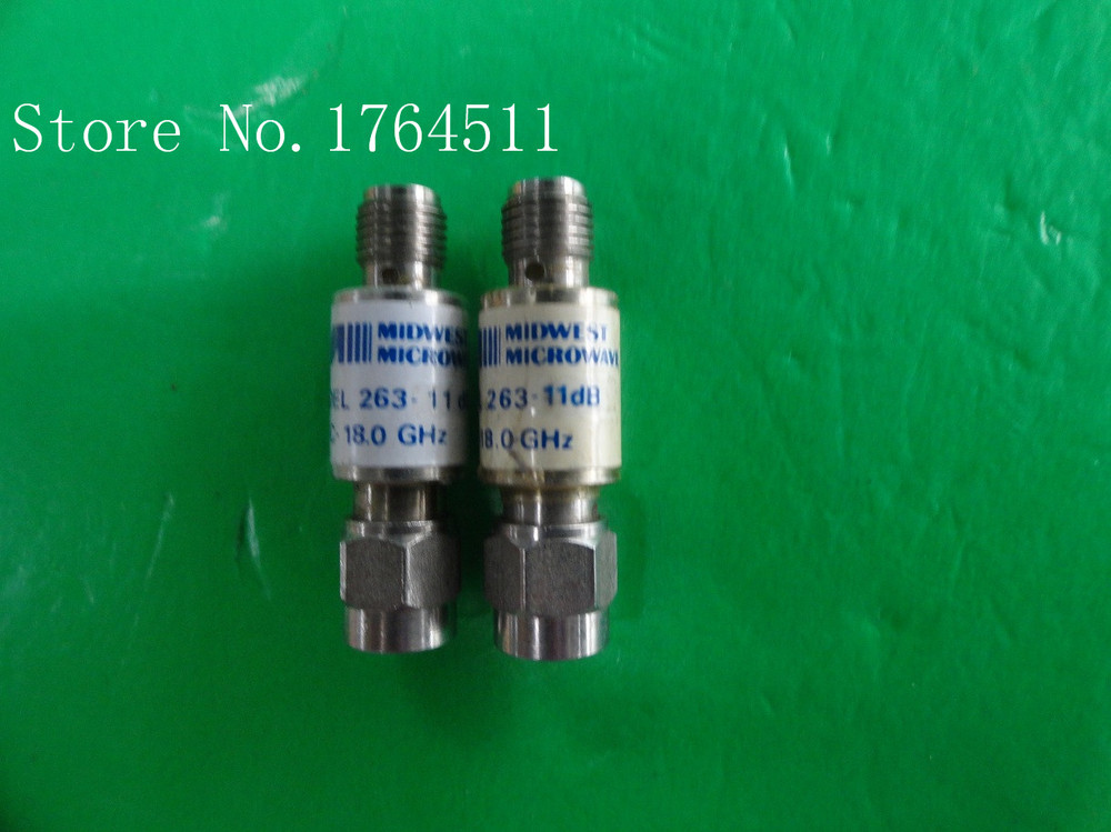 [BELLA] MIDWEST 263-11dB DC-18GHz 11dB 2W SMA Coaxial Fixed Attenuator  --2PCS/LOT