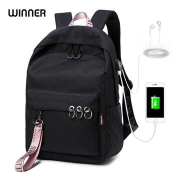 цена на WINNER Laptop USB Charging Backpack Anti Theft Travel Anello Backpack Men Mochila Feminina Escolar 15.6 Inch School Bags