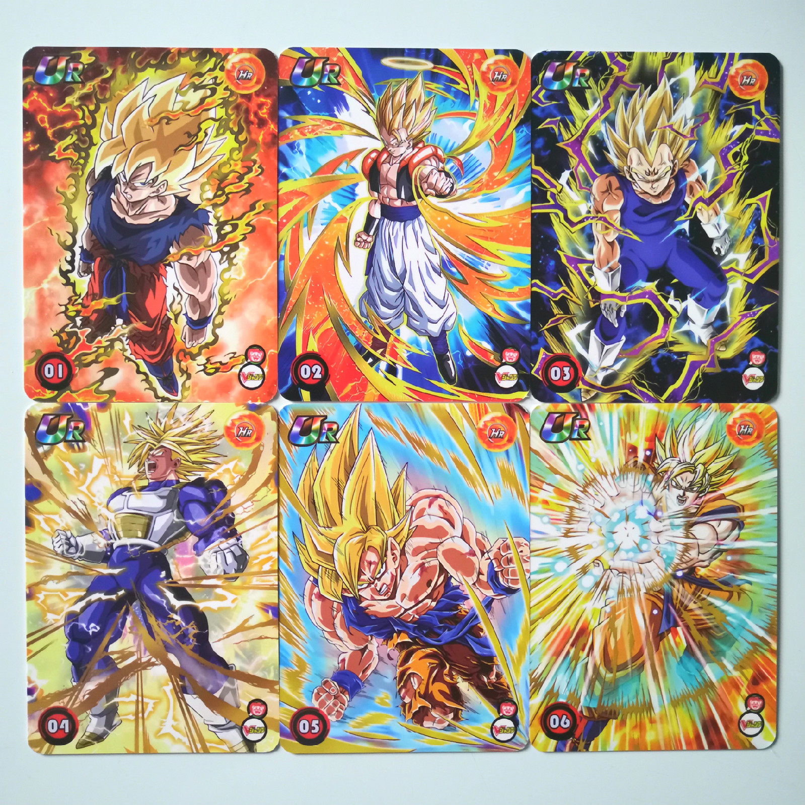 64pcs/set Super Dragon Ball Z Heroes Battle Regular Card Ultra Instinct Goku Vegeta Game Collection Cards
