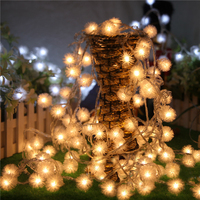 Snowball LED String Battery Box 3AA 10m 80leds Holiday Lights For Wedding Parties Decoration Lightings Lumieres
