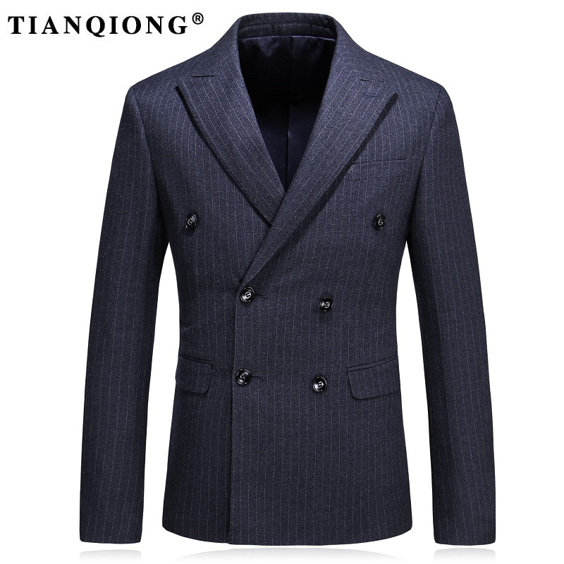 TIAN QIONG for Men Slim Fit Wool Blazer Jacket Coat Size