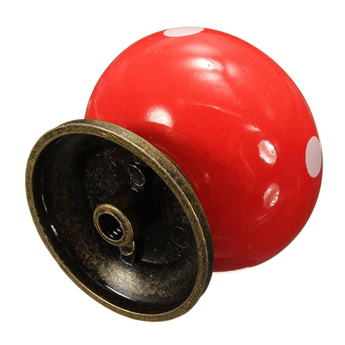 Online kopen wholesale rode kabinet deurknoppen uit china rode ...