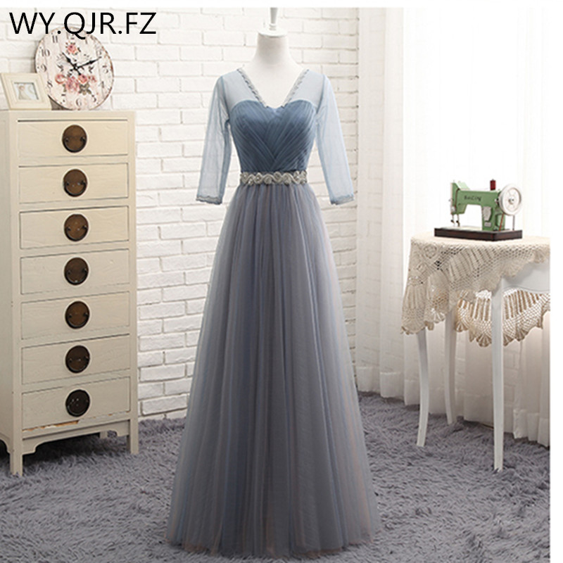 YYMY01V#V Collar Lace Up Resin Drill Ornament Short Middle Length Three Styles Bridesmaid Dresses Wedding Party Prom Dress 2019
