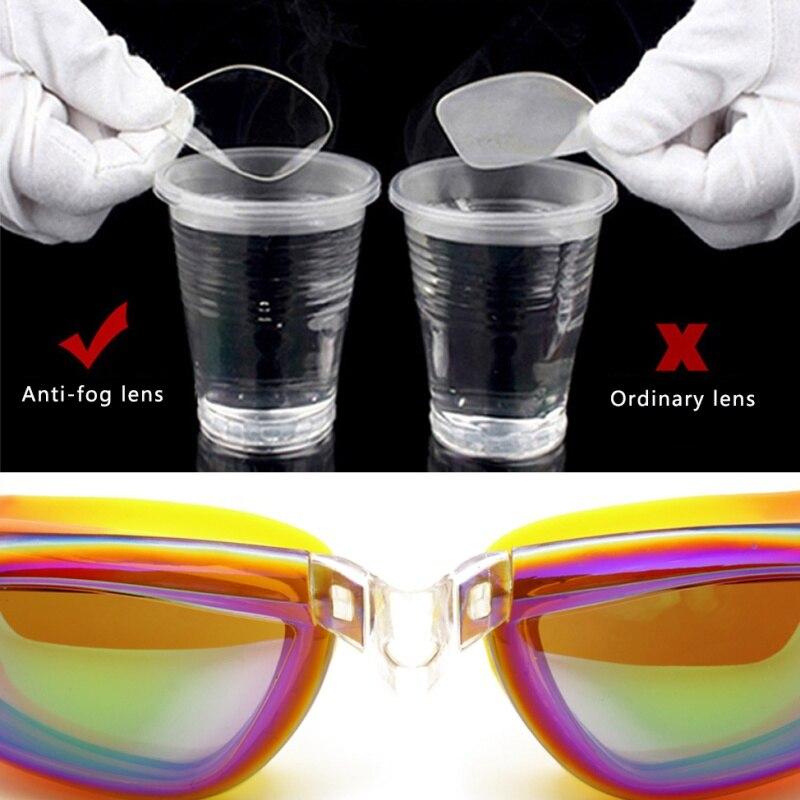 Adult Swimming glasses Unisex Anti-Fog professional Waterproof silicone arena Pool swim eyewear
