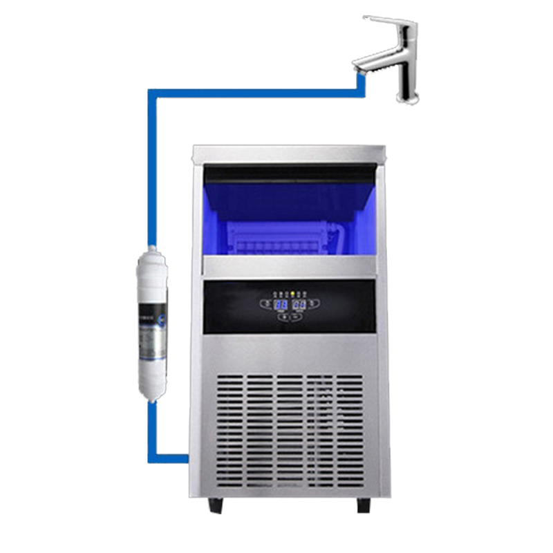 Jamielin 68kg/24h Cube Ice Making Machine Automatic Square Ice Maker For Commercial Use With Tap Barreled Water Intake