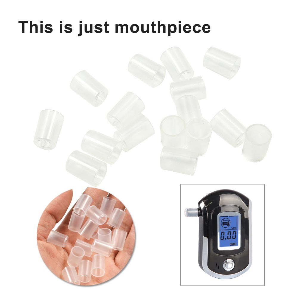 Alcohol Mouthpieces,30Pcs AT6000 Portable Handheld Blowing Nozzle Mouthpieces for Keychain Digital Alcohol Tester