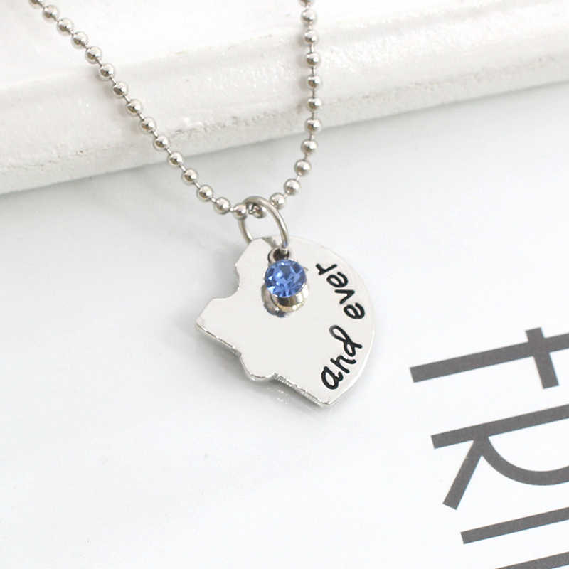 4 Piece Puzzle Broken Heart Best Friend Forever And Ever Choker Necklace Set Friend BFF Necklaces Pendants Christmas Gifts Colar