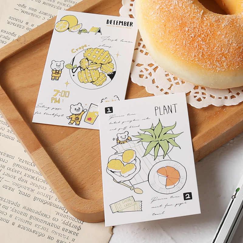 28 แผ่น/ชุดกินกระดาษทุกวัน Lomo การ์ดการ์ตูน Mini โปสการ์ดบัตรอวยพรคริสต์มาสของขวัญ