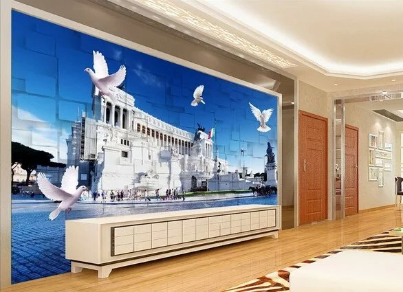 IVY MORDEN Factory Store Custom 3d photo Europe imperial palace design 3d wallpaper 3d mural use for living room Europe style 3d wall paper
