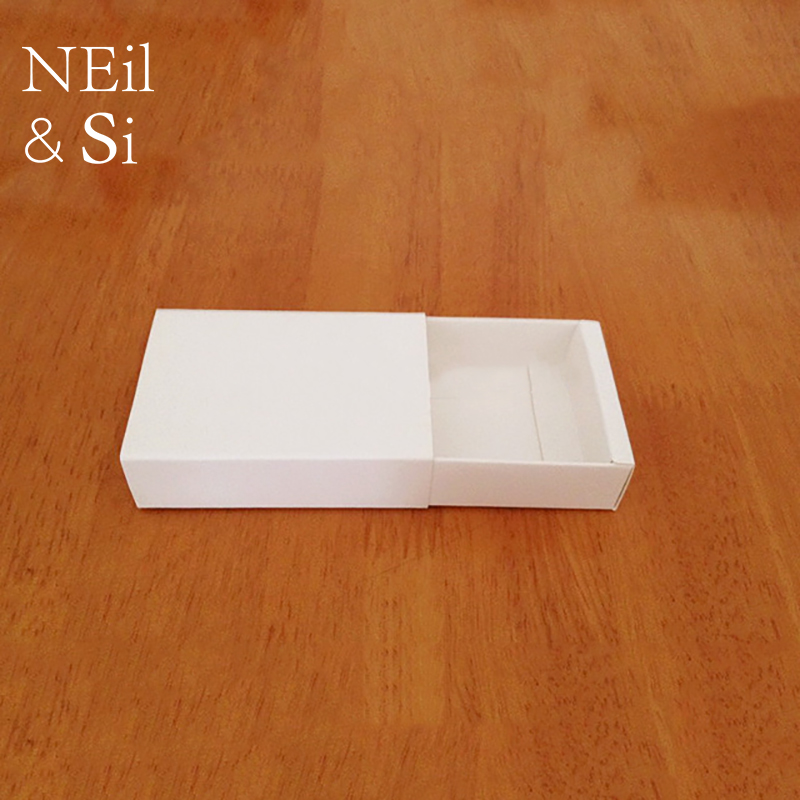 White Paper Drawer Box for Handmade Soap Jewel Party Favor Gift Jewel Packaging Boxes Free Shipping