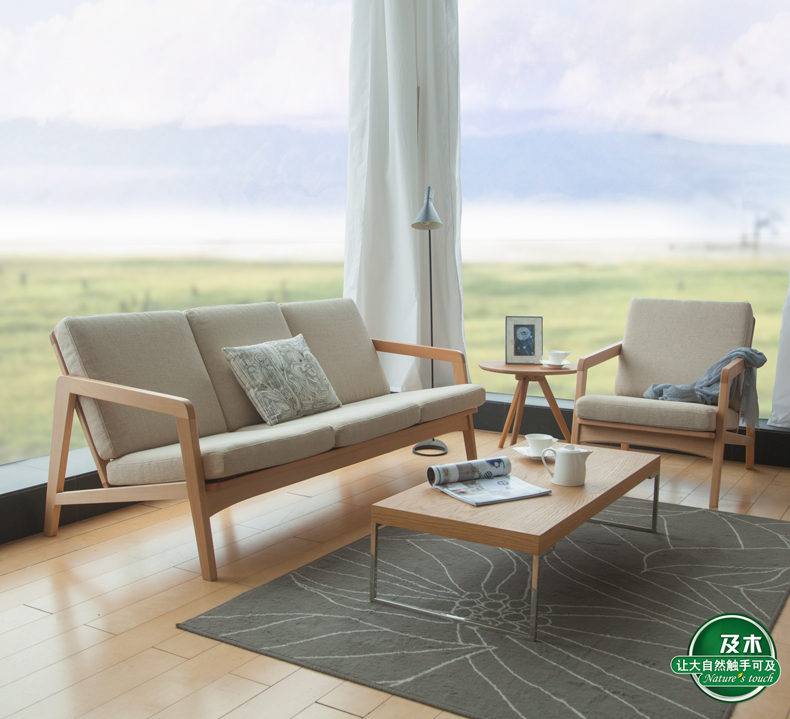 And Wood Furniture Minimalist Scandinavian Design Creative Anese Fabric Of European Beech Sofa Sf012 On Aliexpress Alibaba Group