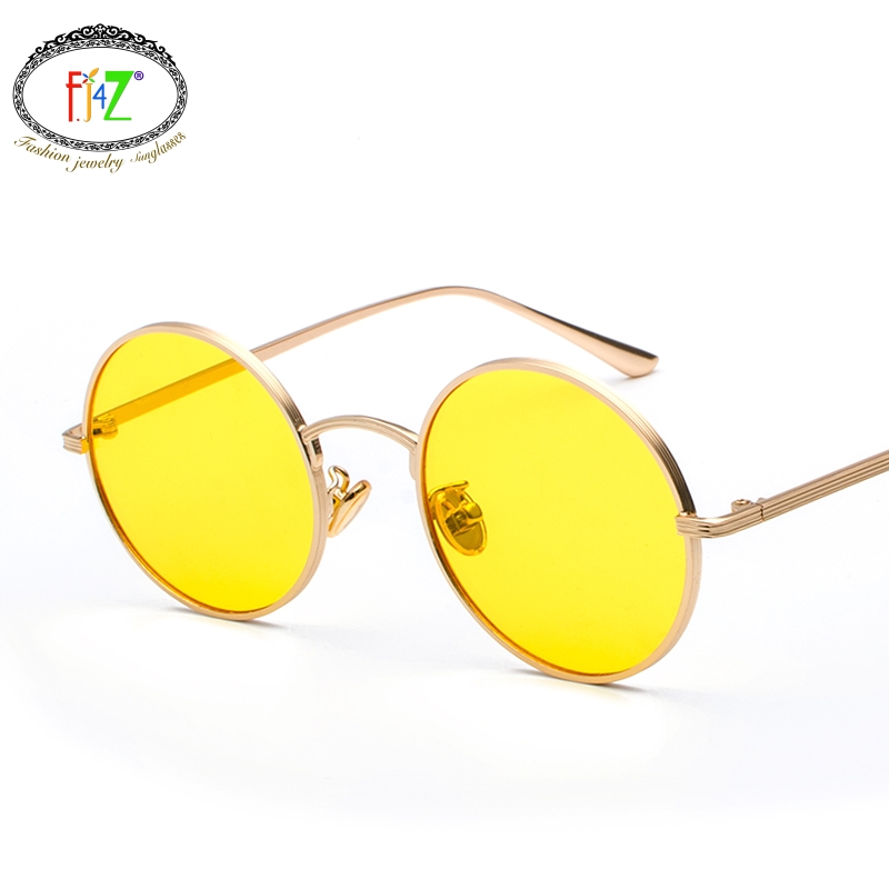 F.J4Z Hot Fashion Cool Super Quality Protection Goggle Shades Youth Retro Punk Unisex Sunglasses Round Lens Alloy Frame