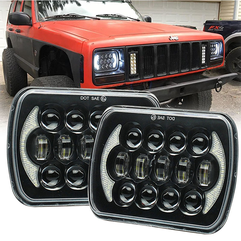 5''x7'' 6''x7'' High Low Beam Led Headlights for Jeep Wrangler YJ Cherokee XJ H6054 H5054 H6054LL 69822 6052 6053 with Angel Ey 5 x7 6 x7 high low beam led headlights for jeep wrangler yj cherokee xj h6054 h5054 h6054ll 69822 6052 6053 with angel eye