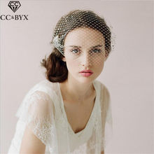 CC Jewelry Wedding Bridal Veil Twigs & Honey Soft Net yarn For Women High Quality Luxury Hair Accessories Brides Hairwear V015(China)