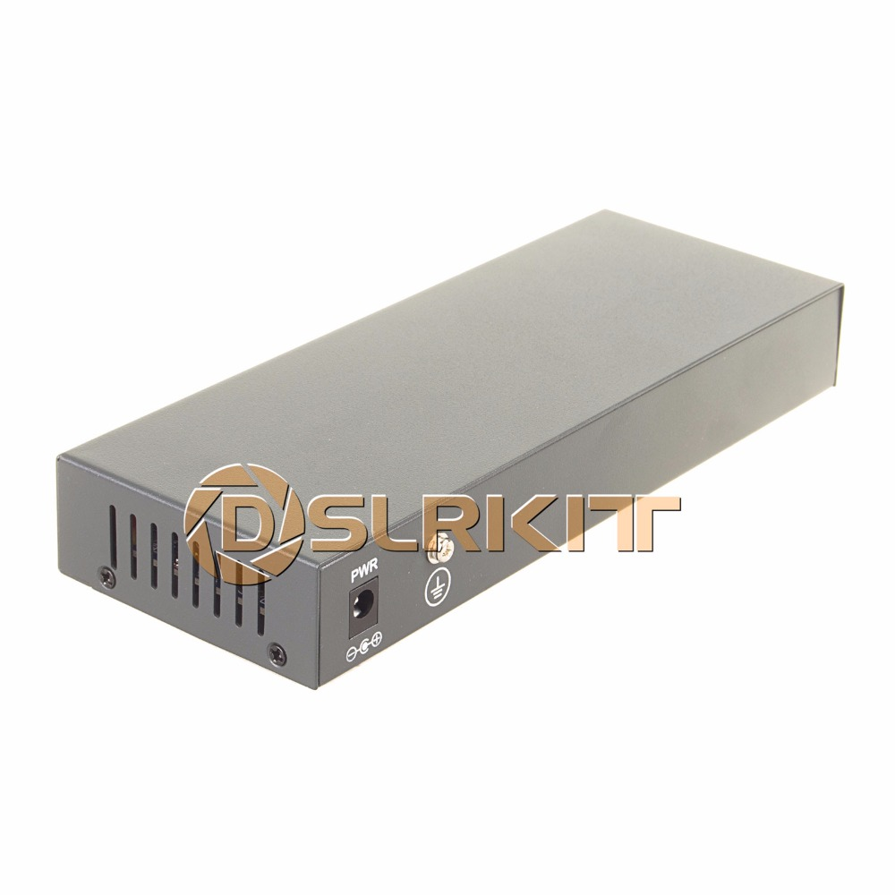 DSLRKIT 250M 10 portar 8 PoE Injektor Power över Ethernet Switch utan nätadapter