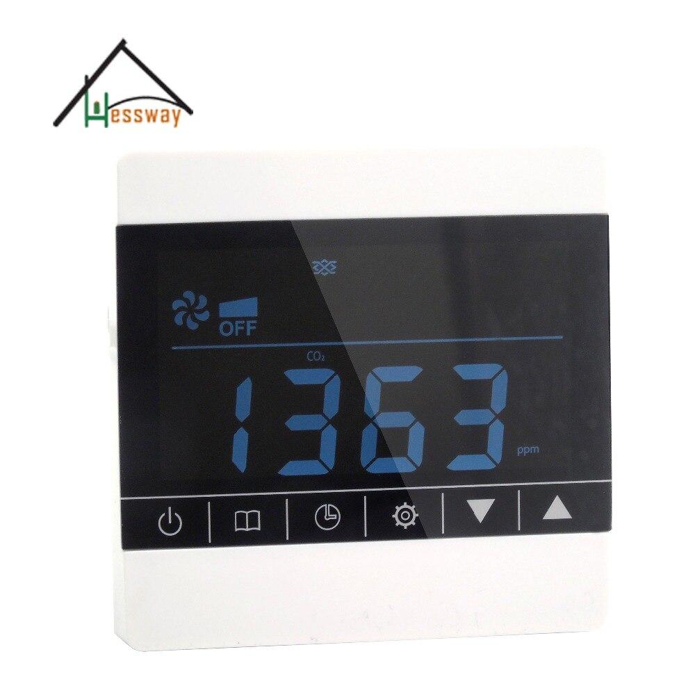 Escala de Controle 350ppm-1000ppm do Co2 dos Instrumentos de Monitoramento da Qualidade do ar do Tela Táctil do