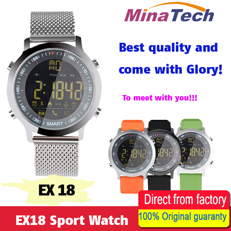 EX18 Sport Smart Watch IP68 Waterproof 5ATM Passometer Xwatch Swimming Smartwatch Bluetooth Watch for Smartphone