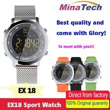 Дешевые Ex18 Спорт Смарт часы IP68 Водонепроницаемый 5atm шагомер xWatch Одежда заплыва SmartWatch Часы Bluetooth для смартфонов