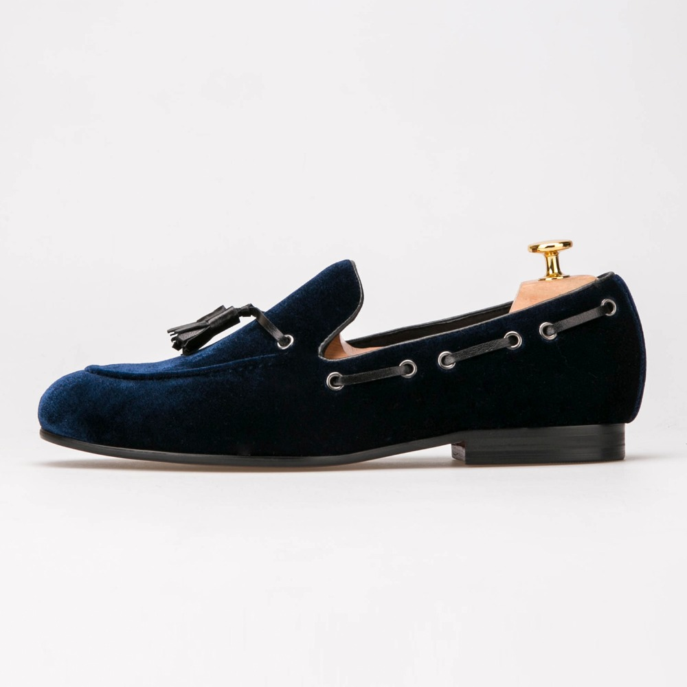 Navy Blue Leather Tassel Men Shoes Mens Party Wedding Shoes Men Velvet Loafers scarpe uomo eleganti menNavy Blue Leather Tassel Men Shoes Mens Party Wedding Shoes Men Velvet Loafers scarpe uomo eleganti men
