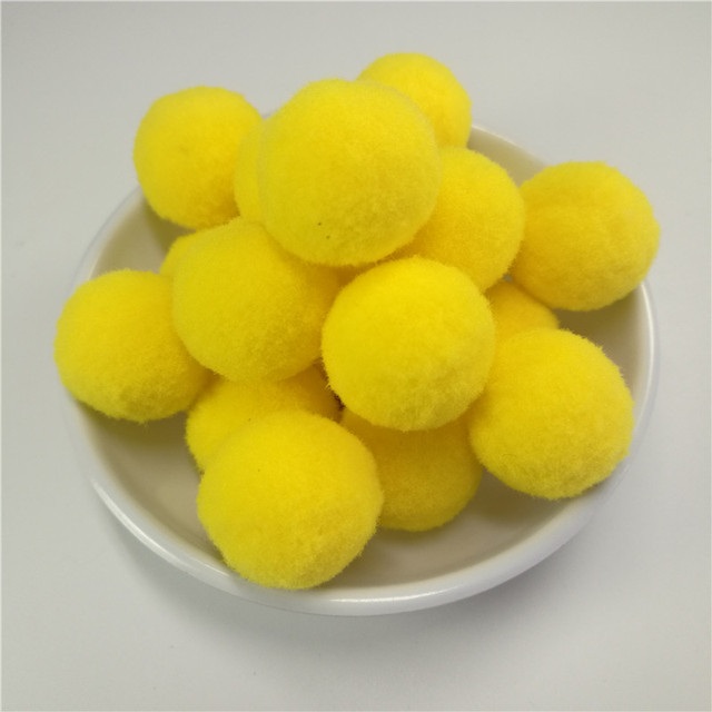 50pcs 25mm round yellow pompom fur craft diy soft pom poms balls 50pcs 25mm round yellow pompom fur craft diy soft pom poms balls handmade wedding home decoration mightylinksfo