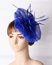 Kentucky sinamay material fascinator headpiece