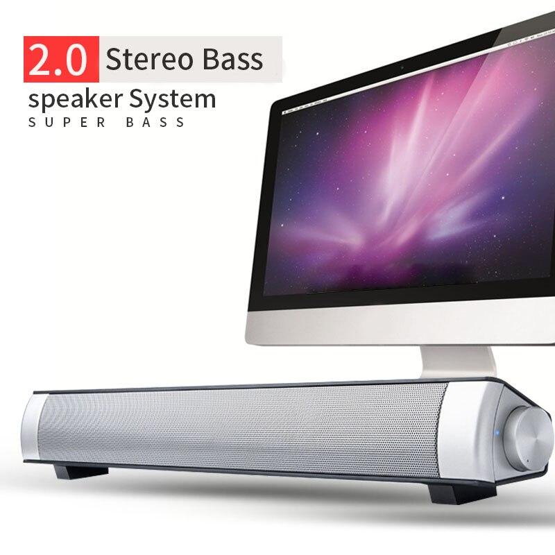 Wireless Speaker Soundbar Portable Bluetooth Computer Speakers HIFI Stereo Music Surround with Microphone Super Bass Loudspeaker