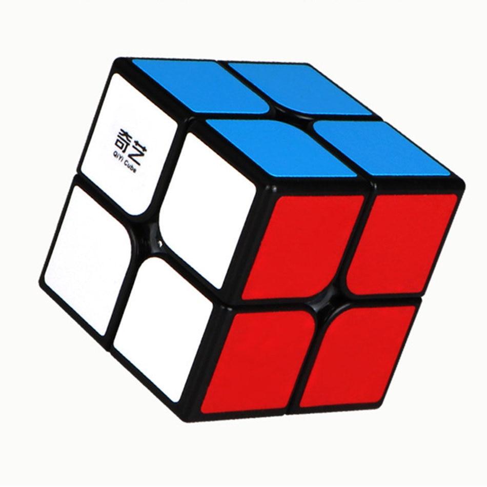 QiYi 2x2 Cube QiDi 2x2x2 Magic Cube 2 Layers Black White 2x2 Magic Speed Cube Professional Puzzle Toys For Children Kids Gift
