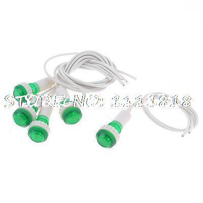 18.5cm long wires green light water heater indicator lamps x 5-in, Reel Combo