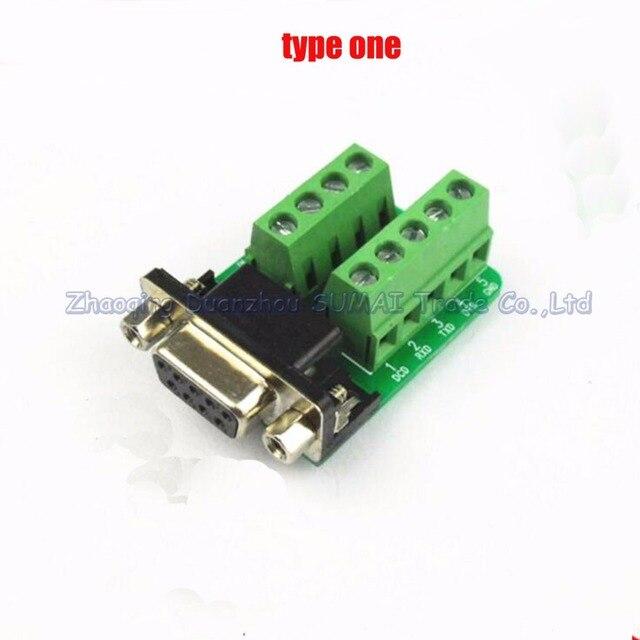 Female Parallel 2 reihen 9 pins DB9 serielle schnittstelle wiederum ...